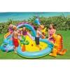 """Надувной бассейн для детей """"Игровой центр с горкой Диноленд"""" 333х229х112см"""