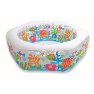 """Надувной бассейн для детей """"Океанский риф"""" с надувным дном 191х178х61см"""