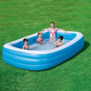Надувной бассейн для детей прямоугольный 305х183х56см