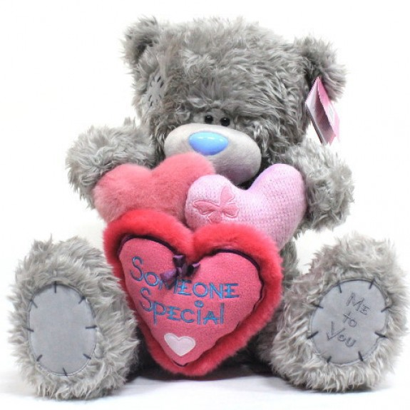 "Мягкая игрушка Медведь ""Me to You"" держит 3 сердечка Someone Special"