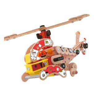 Деревянный конструктор вертолет (FWC-160)