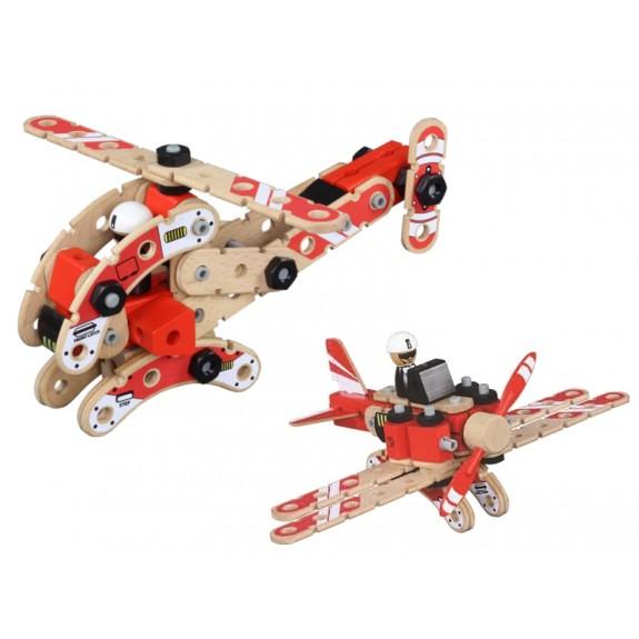 Деревянный конструктор вертолет и самолет (FWC-278)