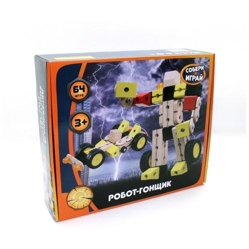 Деревянный конструктор Робот-гонщик (FWC-151)