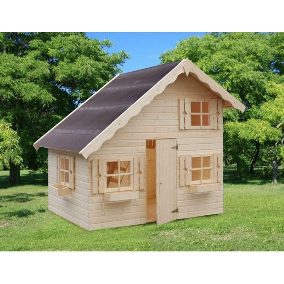 Детский игровой домик из дерева
