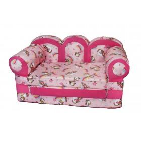 """Детский раскладной диван """"Прованс-лошадки"""""""