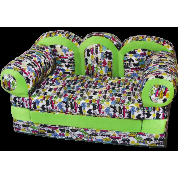 """Детский раскладной диван """"Прованс-Машинки"""""""
