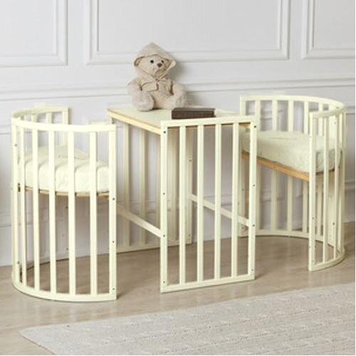 Детская овальная кроватка Roxie Incanto слон.кость