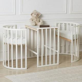 Детская овальная кроватка Roxie Incanto белый