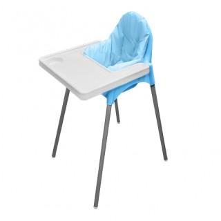 Стул для кормления + матрасик (голубой)