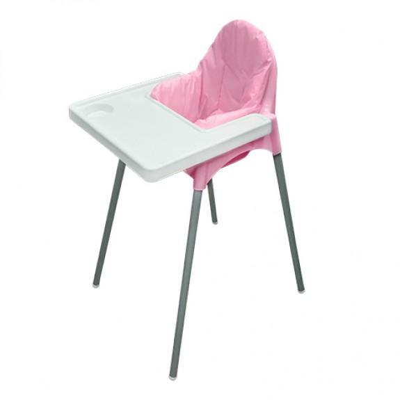 Стул для кормления + матрасик (розовый)
