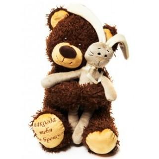 "Мягкая игрушка ""Медвежонок Чиба с зайцем"""