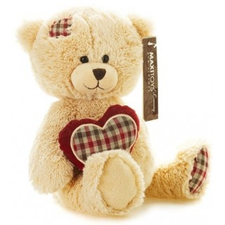 Мягкая игрушка Мишка Лука с сердцем