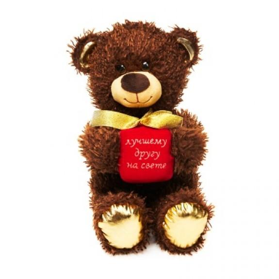 """Мягкая игрушка """"Медвежонок Чиба с подарком"""""""