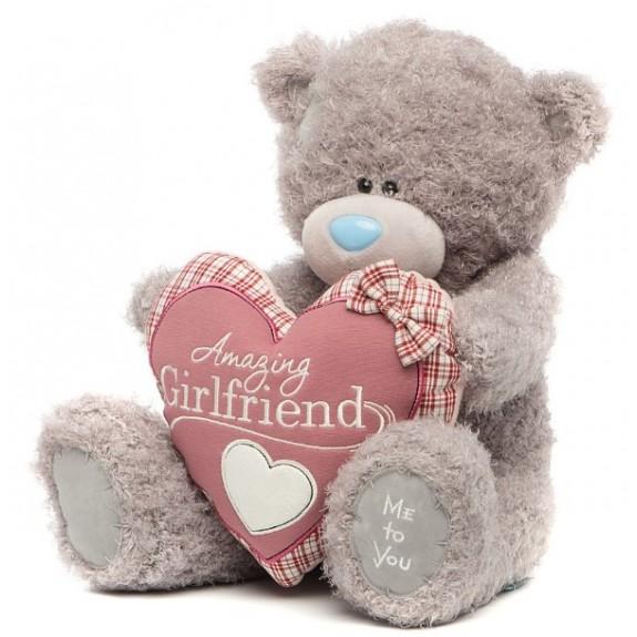 Мягкая игрушка Мишка Тедди Me To You - держит сердце - g01w3281