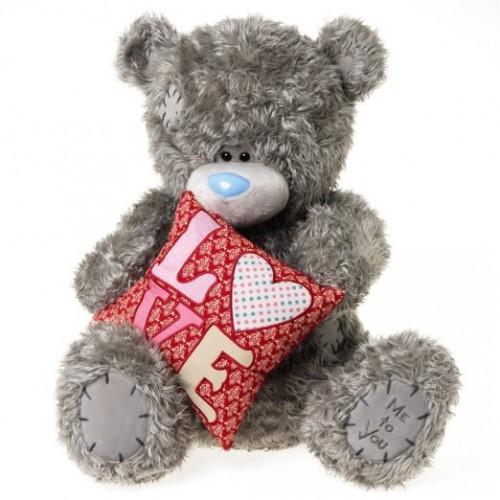 Мягкая игрушка Мишка Тедди Me To You - держит подушку LOVE - g01w3201