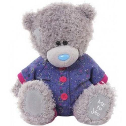 Мягкая игрушка Мишка Тедди Me To You - в фиолетовом комбинизоне - g01w3270