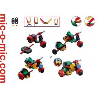 Конструктор mic-o-mic Мотоцикл трёхколёсный 089.017