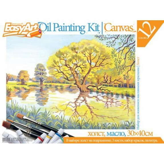 Набор для живописи масляными красками Пруд
