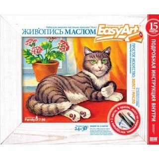 Набор для живописи Холст Кошка на окошке