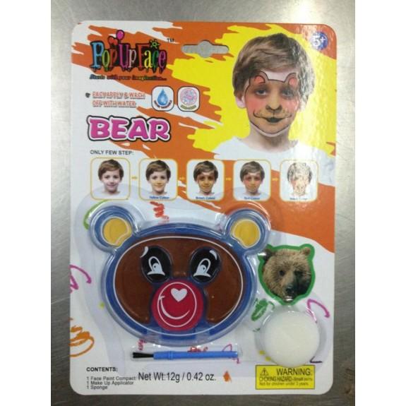 Краски для росписи лица Медведь