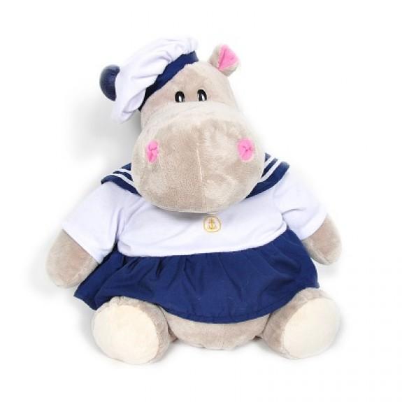 Мягкая игрушка Бегемот Юнга, девочка