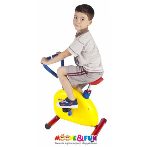 Детский велотренажер с компьютером