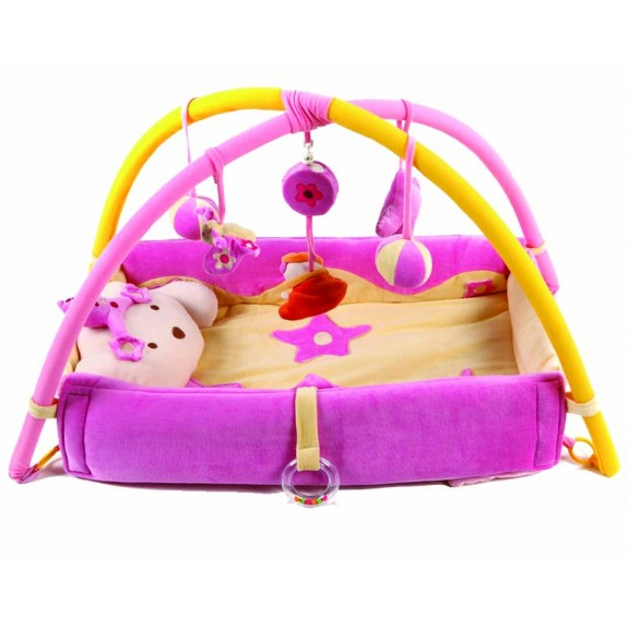 """Детский коврик """"Котёнок"""" розовый"""