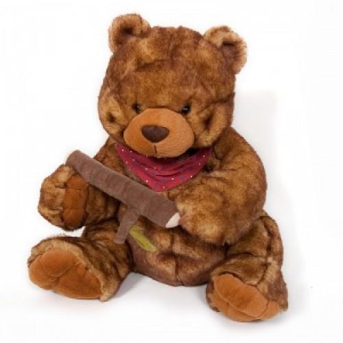 """Мягкая игрушка """"Медведь с веткой"""""""