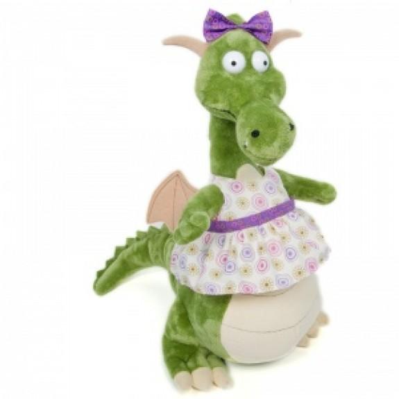 """Мягкая игрушка """"Дракон Мэри в платье"""""""