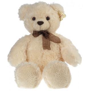 """Мягкая игрушка """"Медведь белый с бантом"""""""