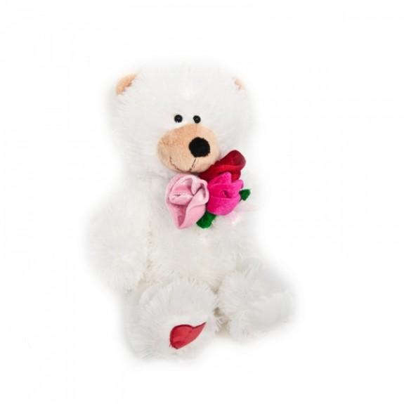 """Мягкая игрушка """"Мишка с розами"""""""