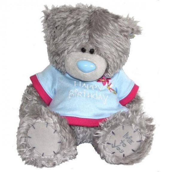 """Мягкая игрушка Медведь """"Me to You"""" в голубой футболке"""