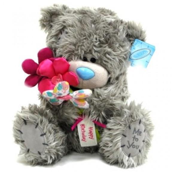 "Мягкая игрушка Медведь ""Me to You"" с букетом цветов ""Happy Birthday"""