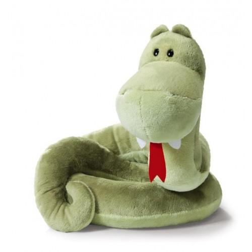"""Мягкая игрушка """"Змея зелёная"""""""