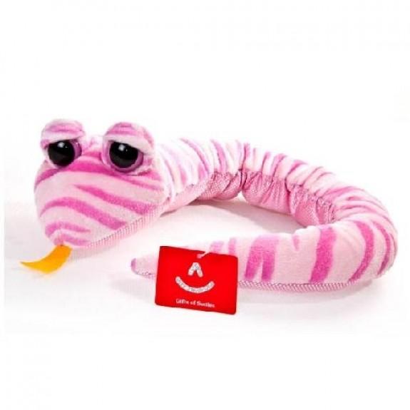 "Мягкая игрушка ""Змея розовая полосатая"""