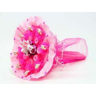 """Букет из мягких игрушек """"Розовая полянка"""""""
